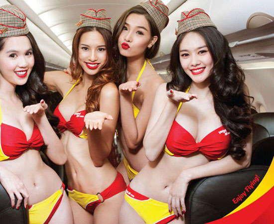 「越捷航空」比基尼空姐要陪你搭飛機!